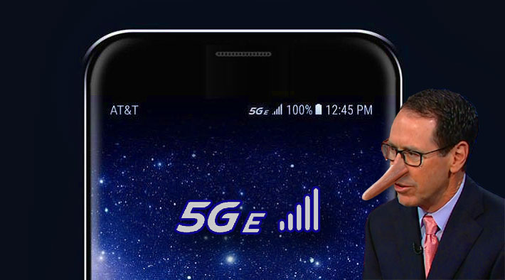 AT&T's 5G E popped up on some phones through an over the aid update, but Verizon, T-Mobile and Sprint want to Wackamole it back to 4G LTE.