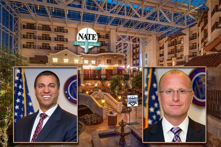 FCC Leaders Chairman Ajit Pai, left, and Commissioner Brendan Carr, will bookend major conference events with keynote appearances