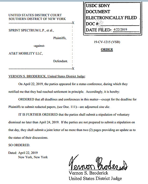 Sprint's 5G 'E' lawsuit against AT&T settled, ending what