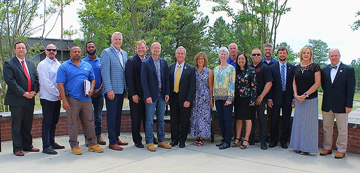 Industry stakeholders and Aiken Technical College administrators welcomed FCC Commissioner Brendan Carr and SC Congressman Joe Wilson to the college's training facility