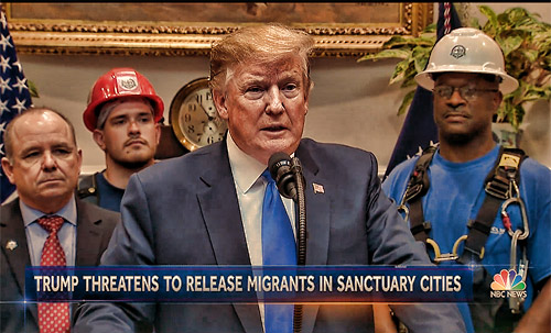 Although 18-plus-million viewers saw the important role that tower techs have in building out 5G, additional millions saw workers in back of President Trump as he fielded a question from a reporter about sanctuary cities.