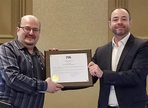 TIA is proud to recognize our outgoing TR-14 #standards engineering committee Vice Chair Mike Malouf for his leadership and more than 30 years of participation in the development of specifications of supporting structures for communications towers. Thank you for your service.