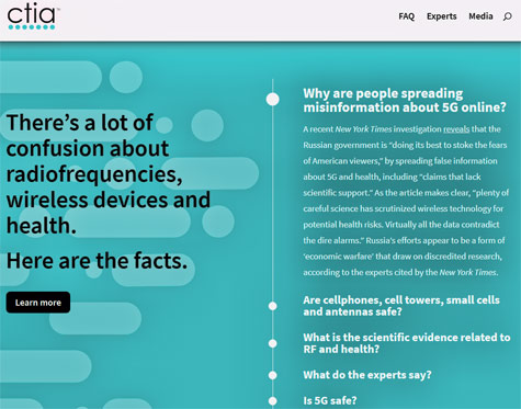 CTIA introduced a new website to debunk fake news and provide RF information