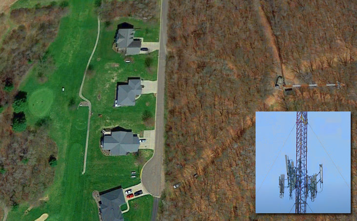 PROTECTING AGAINST A HOLE IN ONE'S ROOF - Bloomer residents were evacuated from their golf course view homes when authorities informed them that a nearby guyed tower could possibly collapse. The structure currently has one carrier tenant at approximately 470 feet.
