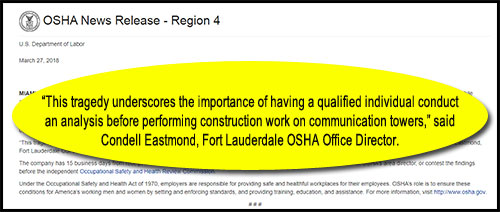 On March 27, 2018, Fort Lauderdale OSHA Office Director Condell Eastmond heralded their investigation and the resulting citation against Tower King ll. However, there will be deafening silence from Eastmond regarding their abject failure in presenting a plausible case before the Commission.