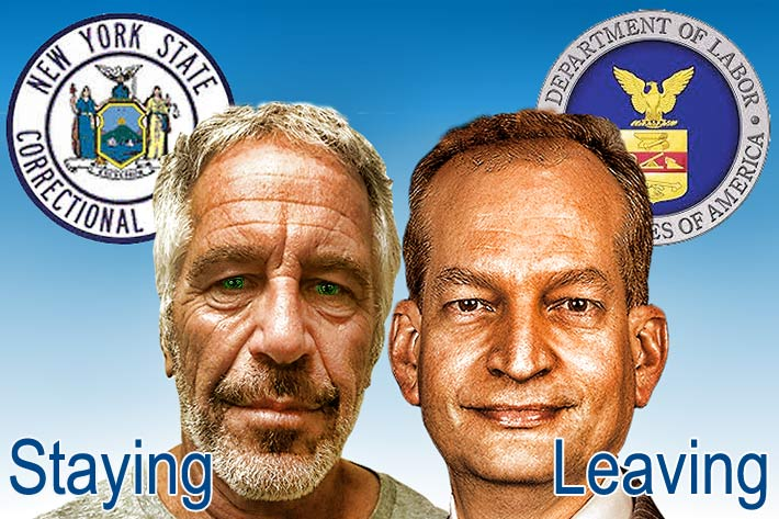 Convicted pedophile Jeffrey Epstein is remaining in jail until his bail hearing. Secretary of Labor Alex Acosta is leaving this week.