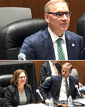 Craig Snyder, top, provides testimony during the hearing. Below, U.S. Senator John Thune (R-SD) and U.S. Senator Deb Fischer (R-NE) deliver opening remarks at today's Senate Commerce Subcommittee Field Hearing in Sioux Falls, SD.