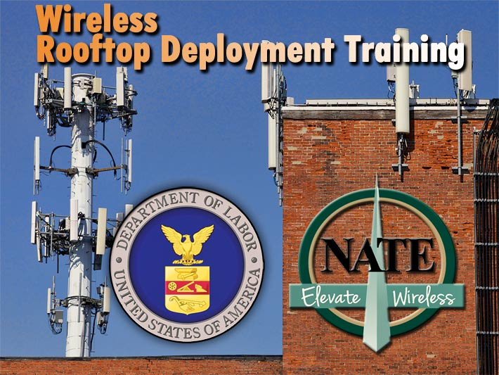 NATE received the U.S. Department of Labor Training Grant for the 5th consecutive year. The $160,000 Susan Harwood grant will be used to Develop Wireless Rooftop Deployment Training Program; Facilitate Training Sessions nationwide.