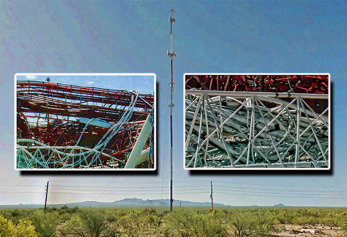 Verizon will be constructed a new tower to replace the 495-foot structure that collapsed in Three Points, Arizona