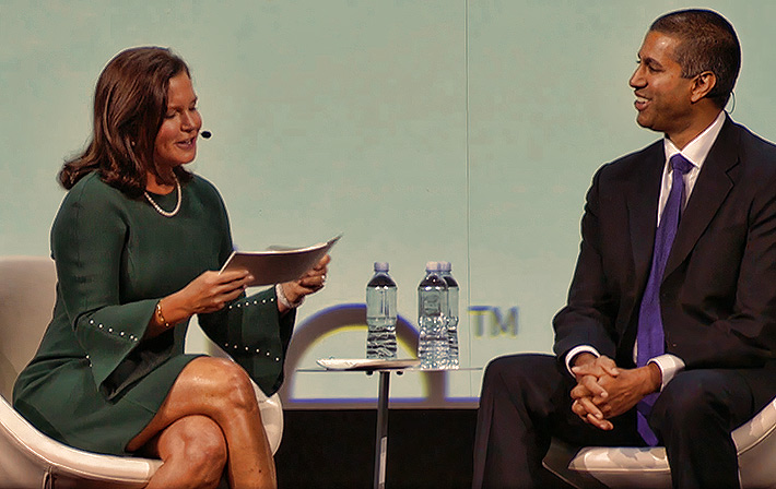 CTIA CEO Meridith Baker and FCC Chairman Ajit Pai discussed upcoming auctions and the need for more mid band