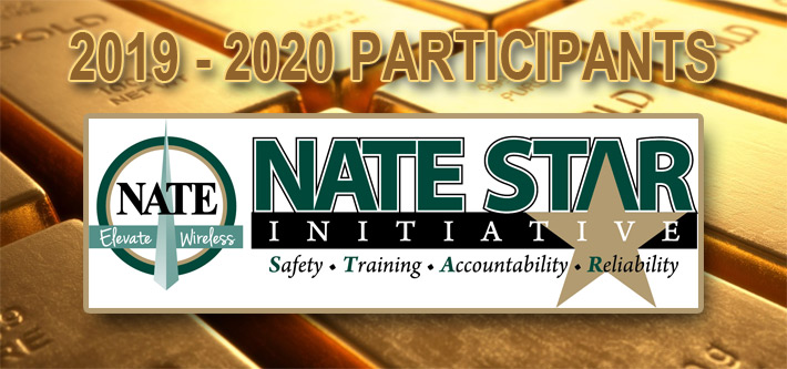 The NATE STAR Initiative is seen as the gold standard for companies desirous of having the best safety program in wireless construction. This program year 160 companies are taking advantage of being on the front lines of safety.