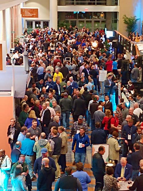 Monday's opening reception saw a full house at the Raleigh Convention Center