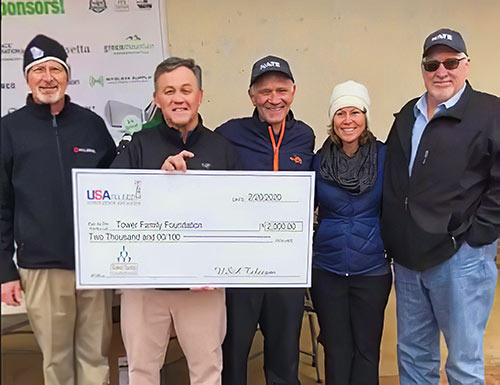 USA Telecom CEO Robinson provided his company's donation to the Tower Family Foundation of $2,000