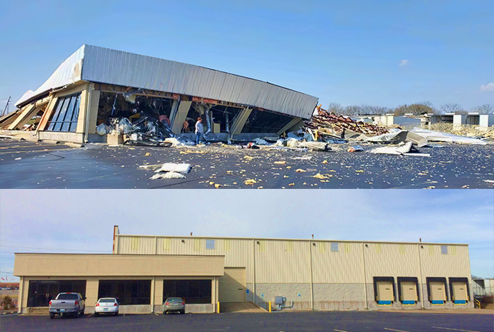 ComStar's training facility was completely demolished by Tuesday's tornado in Tennessee