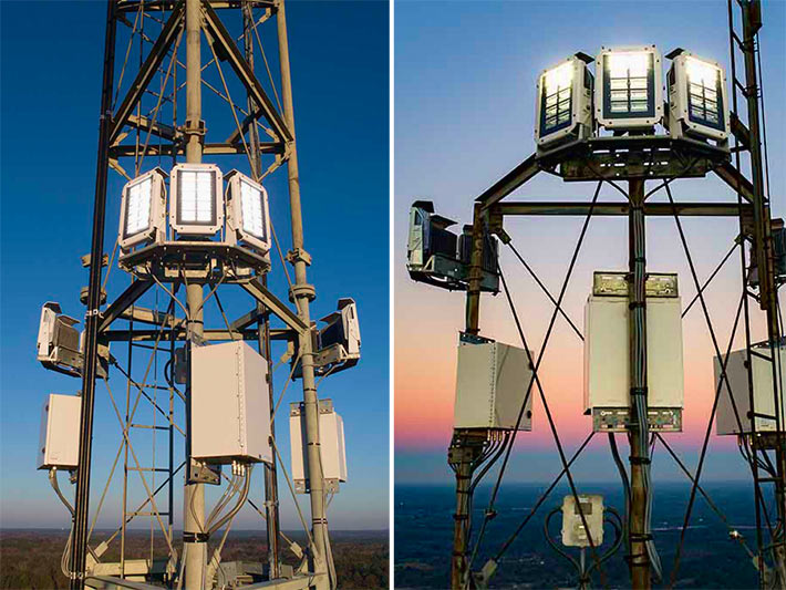 After beta testing on towers in three states, Flash Technology launched a new product for high intensity obstruction applications, the Vanguard® High FTS 270. This product was the first high intensity obstruction lighting system to be certified under new FAA regulations governing infrared / night vision compatibility for obstruction lights.