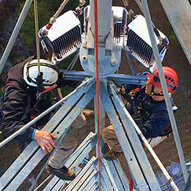 A MayDay tower crew was impressed by how quickly they could install the high intensity units versus other systems