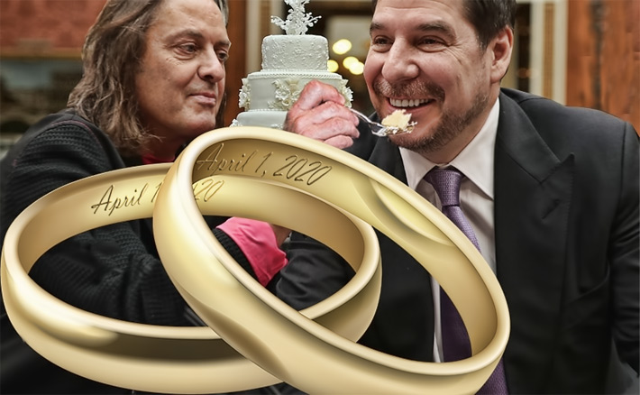 A nine year on and off again courtship has been officially wed by a $26.5 billion agreement, T-Mobile announced this morning. The merger also marks the end of the planned transition period from outgoing CEO John Legere, left, the very public face of T-Mobile, to Mike Sievert. Sprint's CEO Marcelo Claure, at right, and Legere were the driving forces in getting the deal done that a few analysts were convinced would never happen.