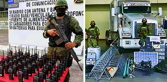 "Cartels are getting a free tenancy on many of the Mexico's macro towers where their networks are hidden from law enforcement. In 2012 the Mexican army seized hundreds of antennas and other network equipment, but there is limited enforcement of ""parasite"" antennas in past years."