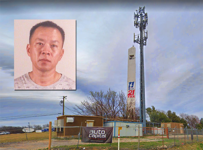 Van Su Tran was arrested after he allegedly decimated dozens of Sprint sites by stealing their routers. The above Bridge Street, Fort Worth site proved to be his undoing as police were able to track him almost in real time.