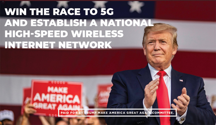 President Trump's campaign ad teaser offered little information regarding a national new 5G network