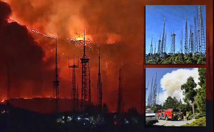 The Bobcat Fire licked at the compounds of Mount Wilson's towers, but controlled burns and firefighters assisted in containing the wildfire