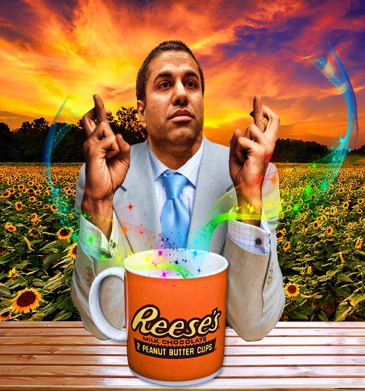 No matter what FCC Chairman Ajit Pai's Resse's chocolate tea leaves read, it will be unlikely that the U.S. Treasury will recoup any of the