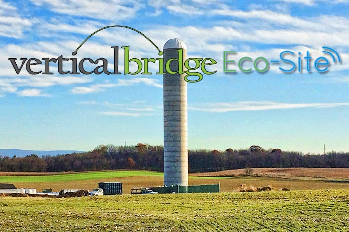 One of the macro sites that Vertical Bridge acquired in the acquisition is this120-foot multi-tenant silo in Hagerstown, Maryland